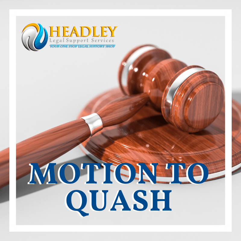 gavel. justice,motion to quash