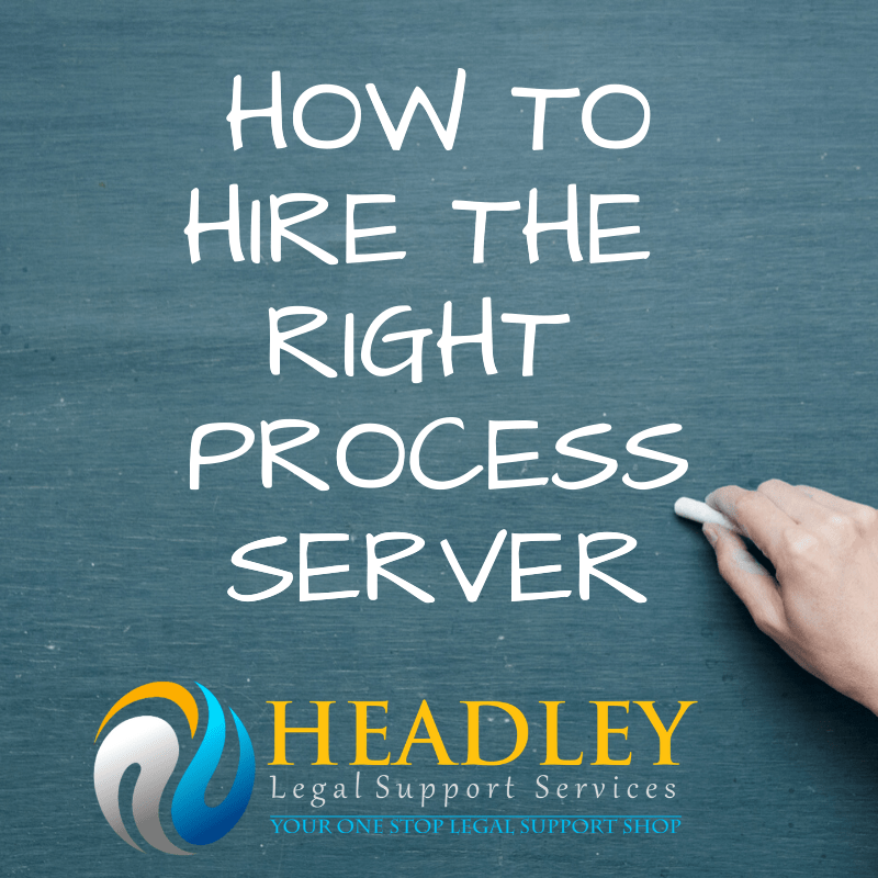 headley legal support, process server