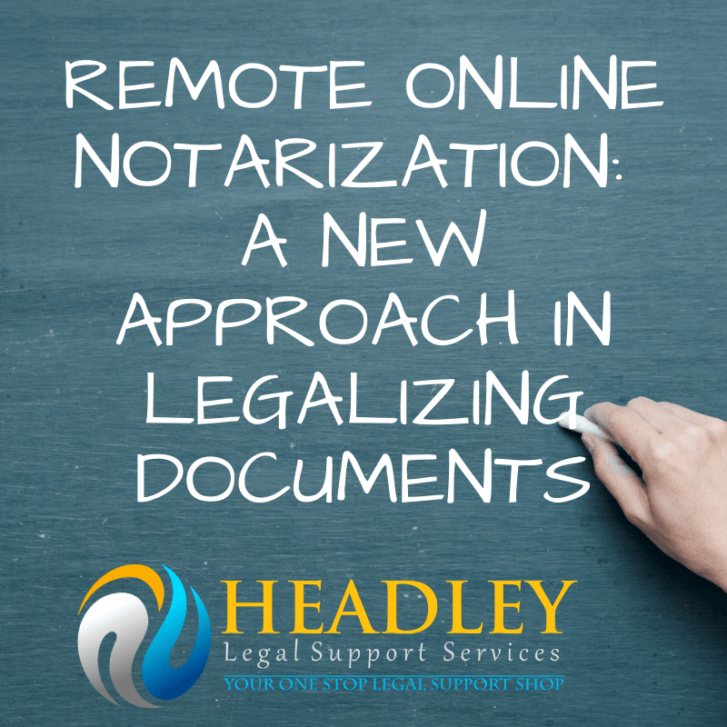 notary, remote online notary