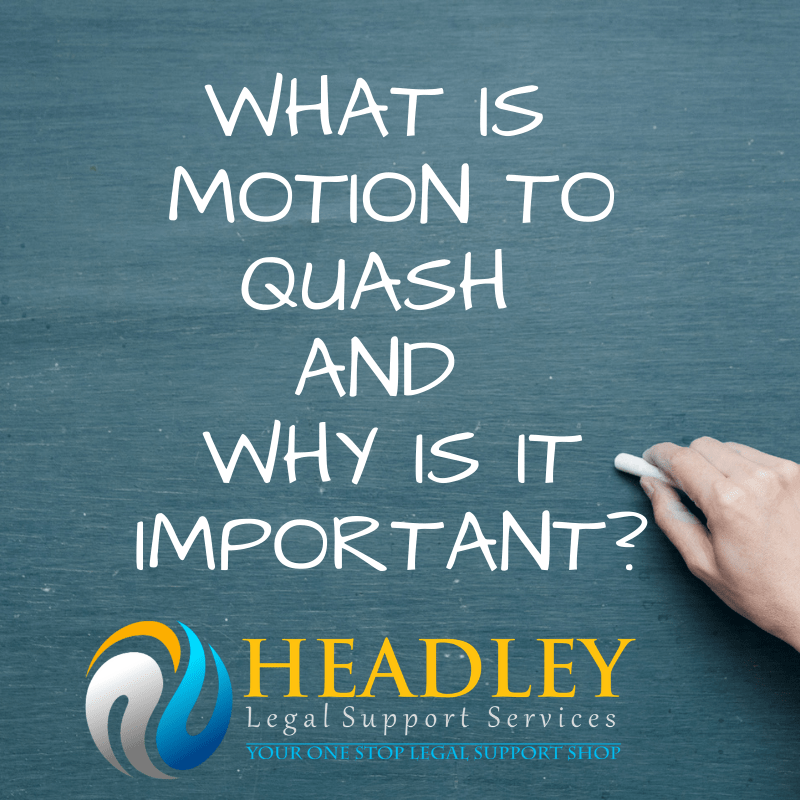MOTION TO QUASH
